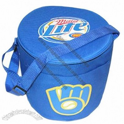 Round Thermal Cooler Bag for 12-pack Capacity