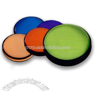 Round Translucent PVC zippered CD/DVD holder