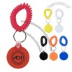 Round Vinyl Key Chain With Coil Attachment