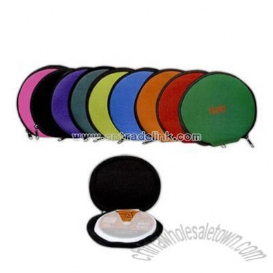 Round neoprene CD cases
