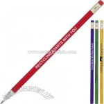 Round recycled newspaper pencil