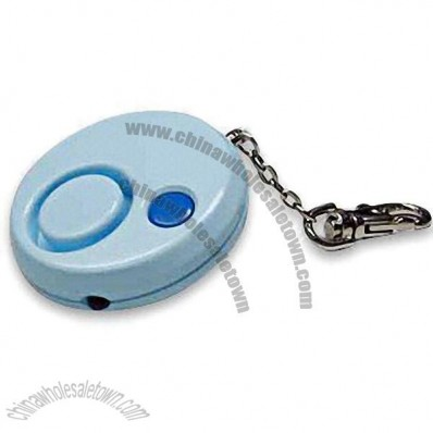 Round-shaped Keychain Personal Alarm with White LED