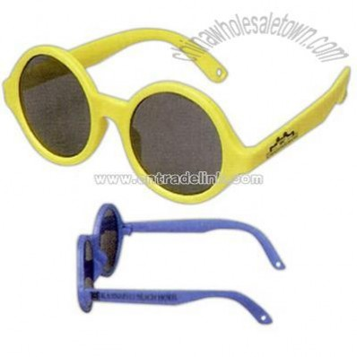 Round shaped soft rubber baby sunglasses