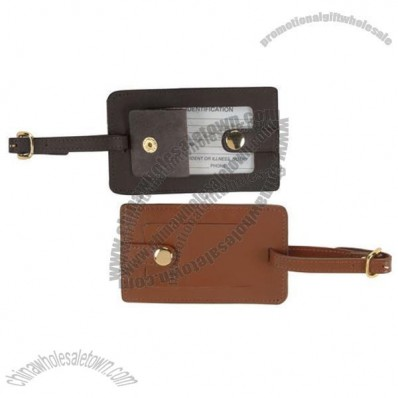 Royce Leather Snap Genuine Leather Luggage Tag