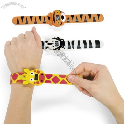 Rubber Animal Slap Bracelet Watches