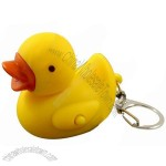 Rubber Duck Keychain Light Up & Quacks