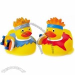 Rubber Skateboard Duck Toy