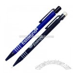 Rubber coated ballpoint pen and mechanical pencil set