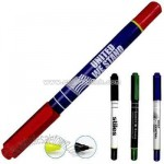 Rubberized dual function highlighter/pen