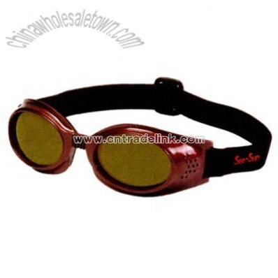 Rubberized frames goggles