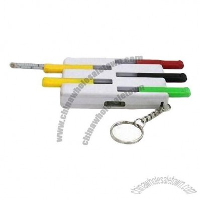 Ruler Keychain, Available in Different Material and Colors