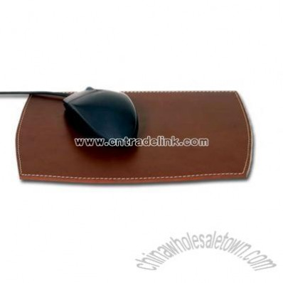 Rustic Brown - Rustic leather mouse pad