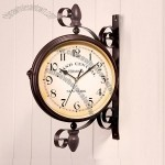 Rustic Classical Double Faced Clock