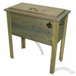 Rustic Wood Ice Box Cooler - Natural