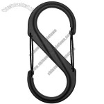 S-Biner Plastic Size-4 Double Gated Carabiner, Black