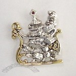 SANTA ON A SLEIGH CHRISTMAS PENDANT