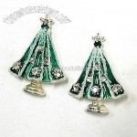 SPARKLY CHRISTMAS TREE EARRINGS