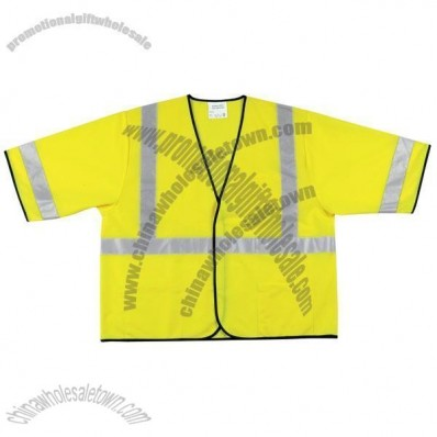 Safety Lime Solid Polyester Vest
