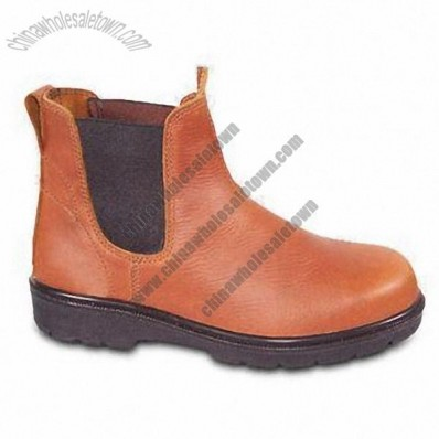 Safety Shoes with Action Leather Upper and Dual PU Sole