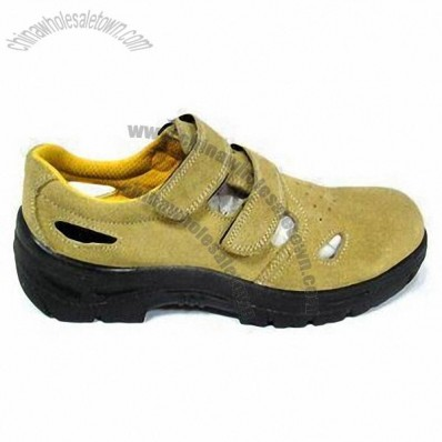 Safety Shoes with CE EN345 S1P and Cow Suede Uppe