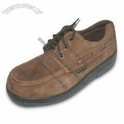 Safety Shoes with Cow Suede Upper, CE EN345 Certified