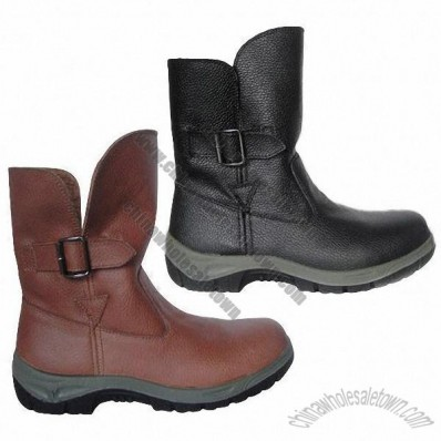 Safety Shoes with Soft Split Leather, Various Out Sole Models are Available