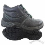 Safety Shoes with Steel Toe Cap, Made of Cow Leather Upper and PU Outsole