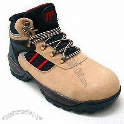 Safety Shoes with Steel Toe Cap, Upper made of Suede or Mesh