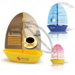 Sailboat Shape Desk Calendar with Paperclip Storage