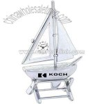 Sailboat clock on stand