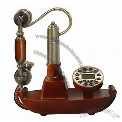 Sailing Boat Shaped Antique Wooden Telephone with High-quality Body