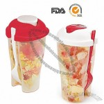 Salad Shaker Cup with Separate Dressing Container