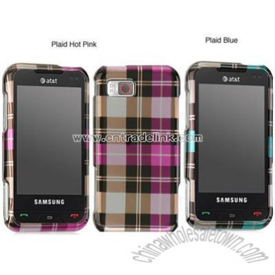 Samsung Eternity A867 Plaid Design Protector Case