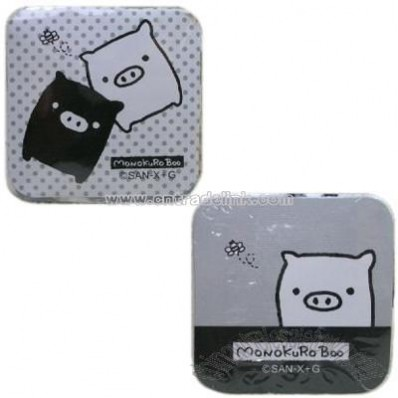 San-X Monokuro Boo Compressed Face Towel Wash Cloth