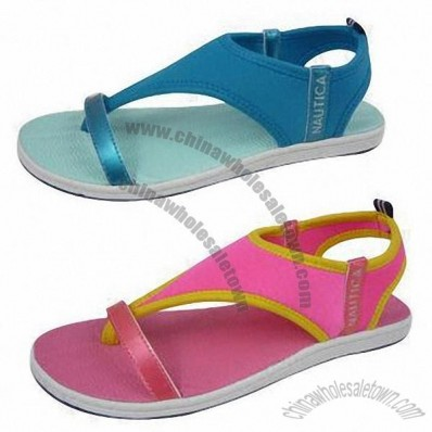 Sandals with Two-way Stretch Textile, High-quality EVA and Rubber Outsole