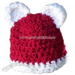 Santa Baby Teddy Bear Beanie (Red and White)