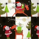 Santa Back and White Wrapping Paper
