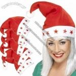 Santa Claus Festive Novelty Christmas Holiday LED Flashing Hat