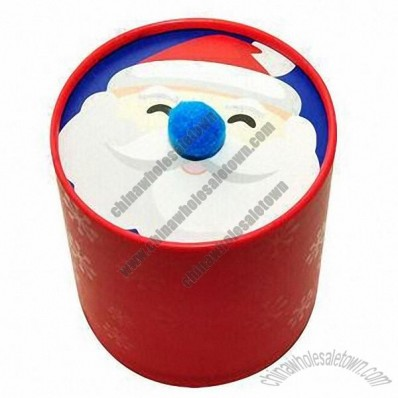 Santa Claus Lid Chocolate Candy Tube Box
