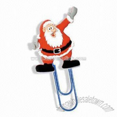 Santa Claus PVC Book Mark