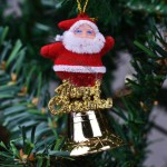 Santa Claus Pendant with Bell Ball Gift Box
