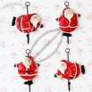 Santa Claus Resin Metal Ornament Hooks