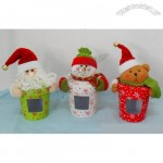 Santa Claus and Snowman Christmas Candy Box