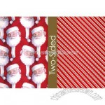 Santa Head and Shoulders Reversible Wrapping Paper