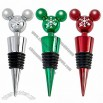 Santa Mickey Mouse Bottle Stopper