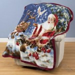 Santa Reindeer Fleece Blanket