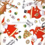 Santa and Reindeer Wrapping Paper
