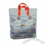 Santa on Ice Premium Plastic Carrier Bags with Loop Handles