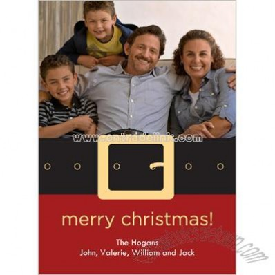 Santa's Belt Holiday Card