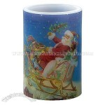 Santa's Sleigh Musical Flameless Candle - 4 inch